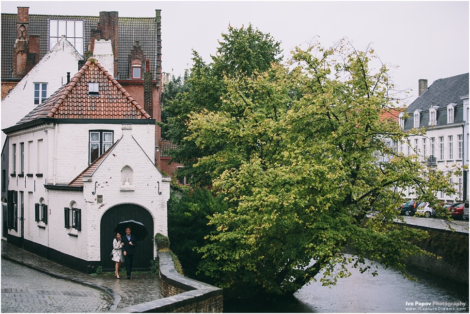 Romantic Wedding proposal in Bruges