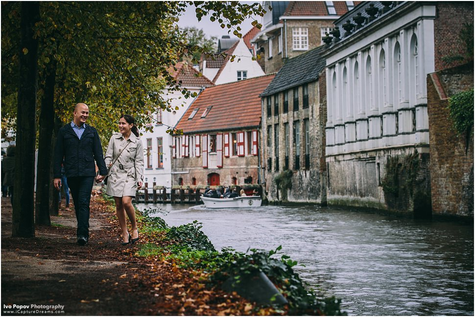 Cute Mariage proposal in Bruges