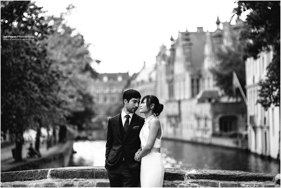 Pre wedding photo session in Bruges