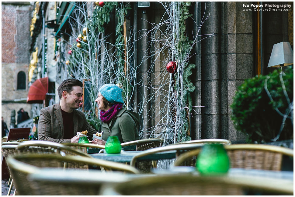 Christmas Engagement session in Bruges