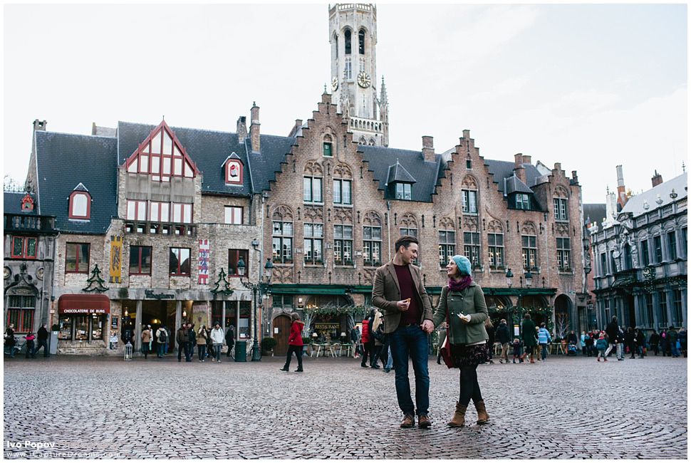 Very chick Engagement session in Bruges