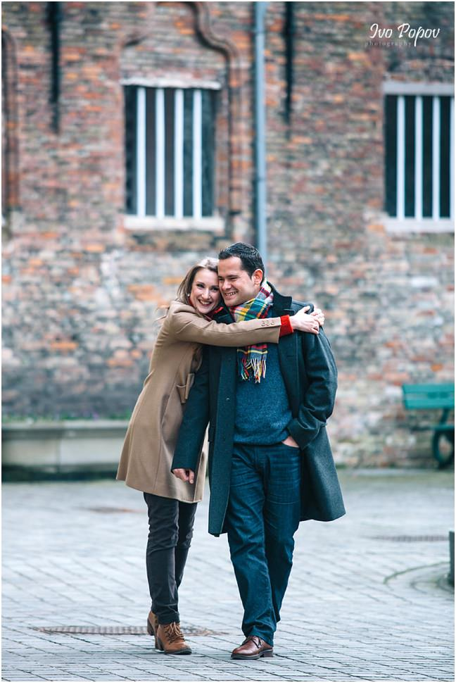 Engagement photo session in Bruges by Ivo Popov Photography