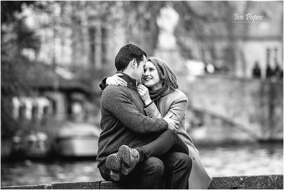 Engagement session in Bruges by Ivo Popov Photography