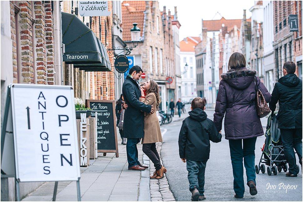 Chocolate shops in Bruges, Belgium