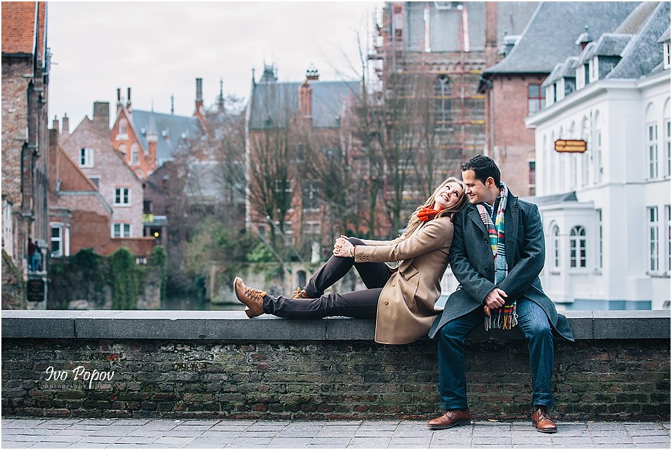 Engagement photo session in Bruges, Belgium
