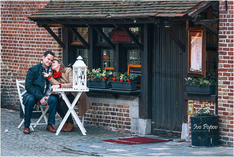 Engagement photo session in Brugge