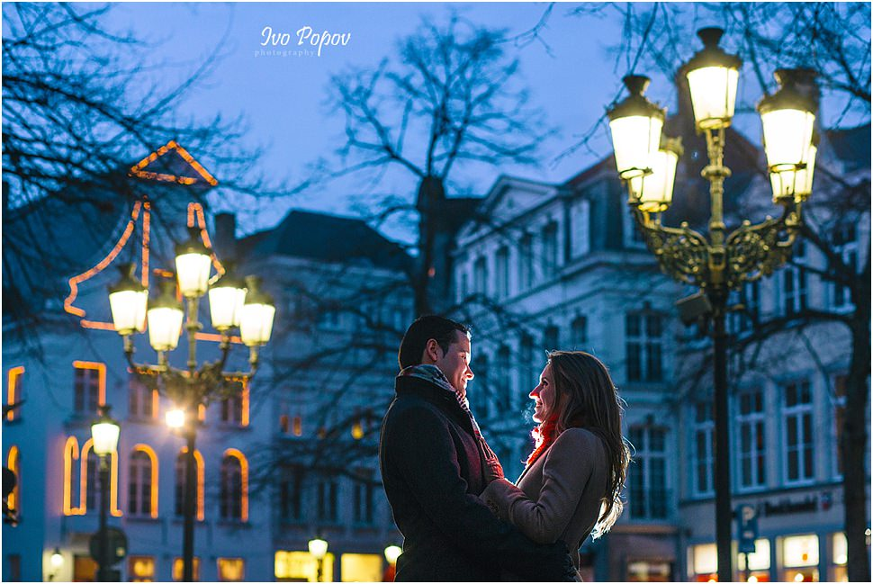 Night photo session in Bruges