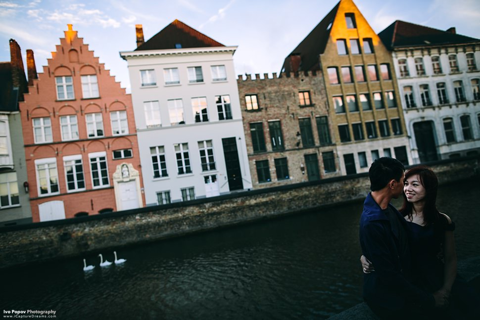 Sunset photos in Bruges