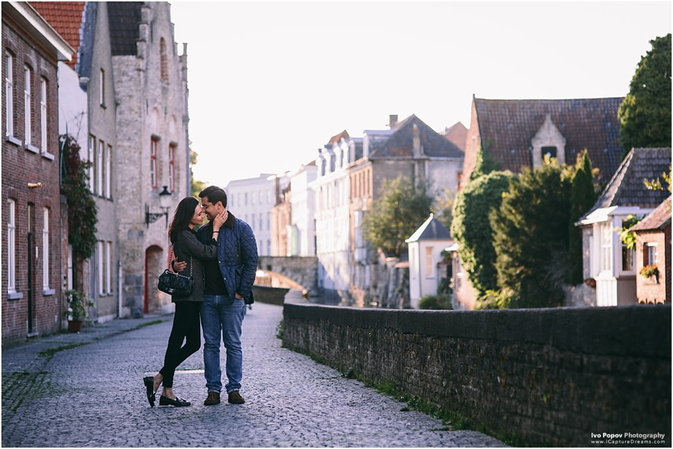 Engagement photography in Bruges