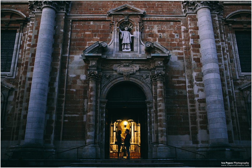 Creative night pictures in Bruges