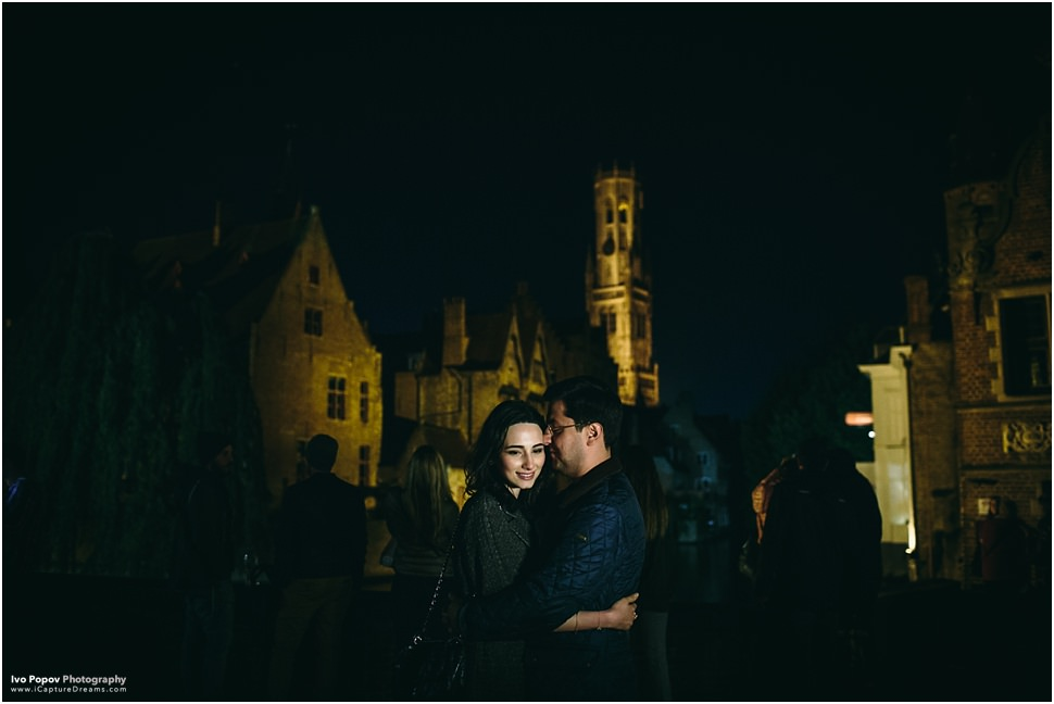 Romantic night pictures in Bruges