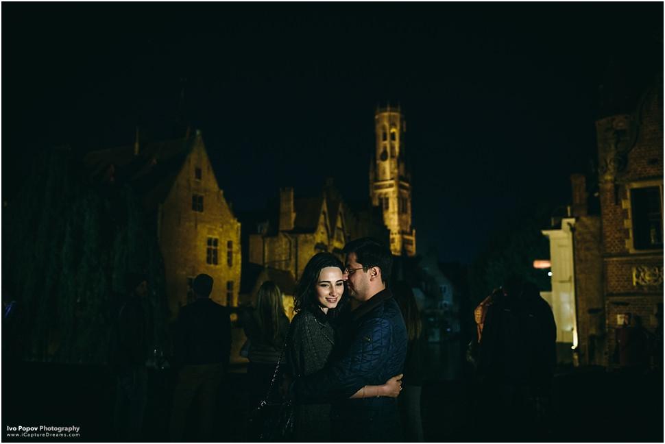 Romantic night pictures in Bruges