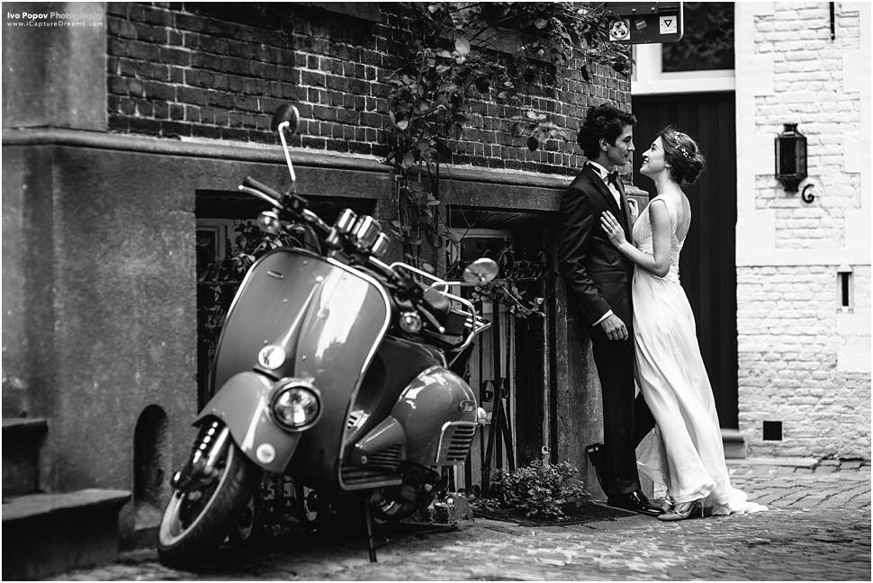 After wedding photo session in Bruges