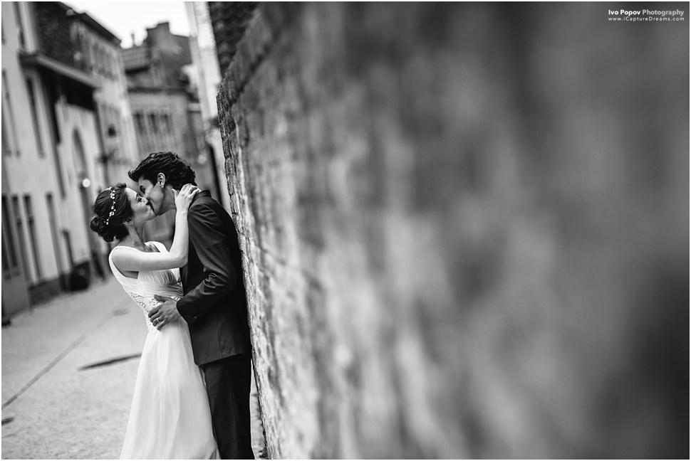 Boho bride in Bruges