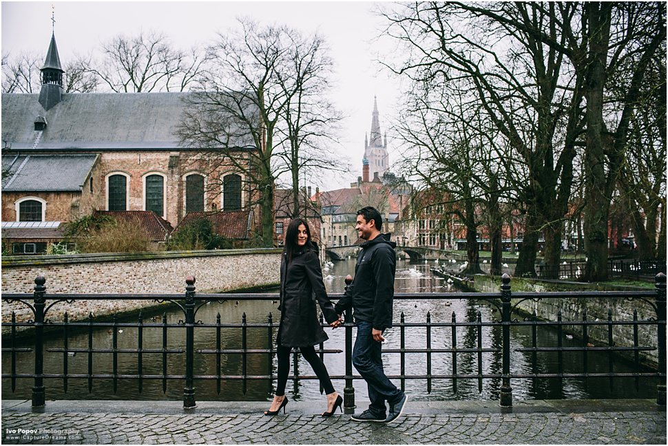 Photo session in Bruges at the Lover