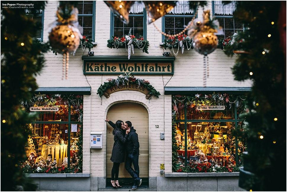Bruges around Christmas
