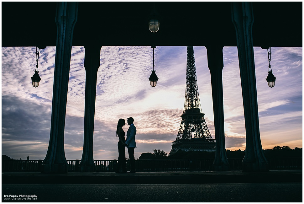 Romantic photo session in Paris