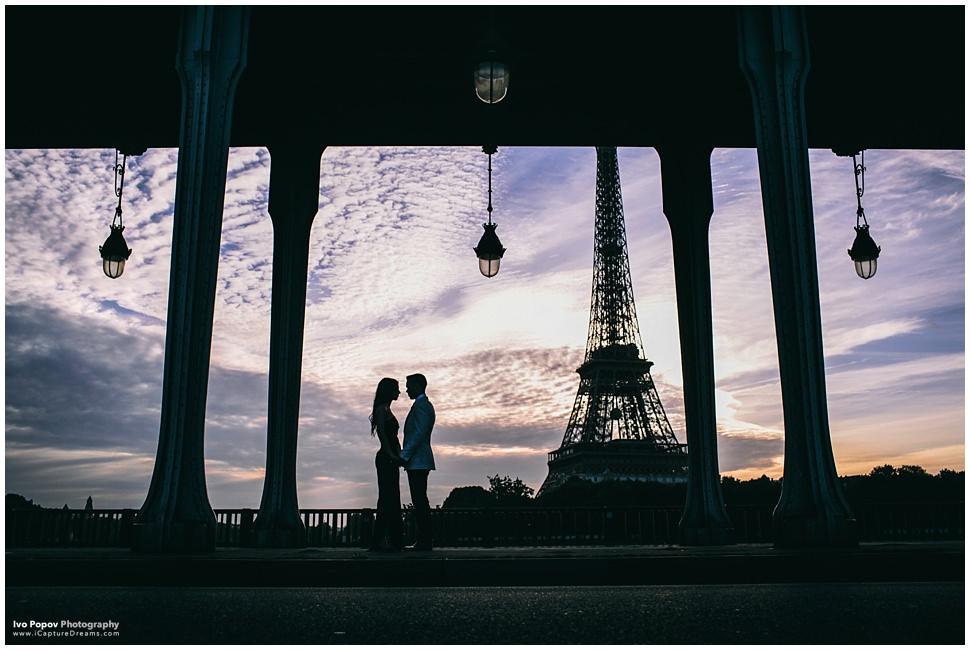 Romantic photo session in Paris