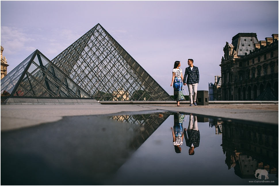 Engagement photo session in Paris