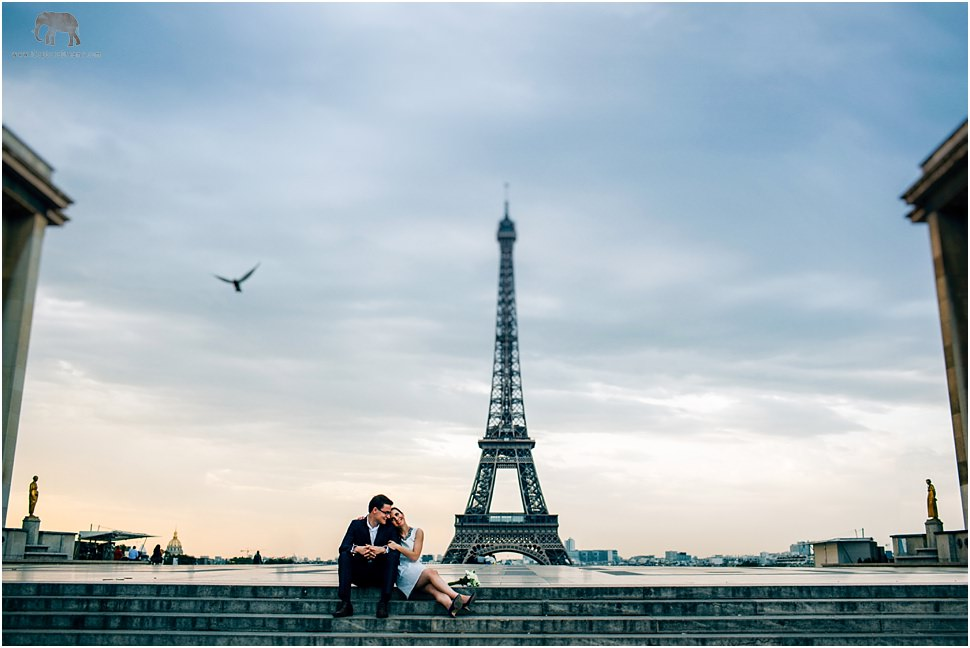 Romantic images with Eiffel Tower