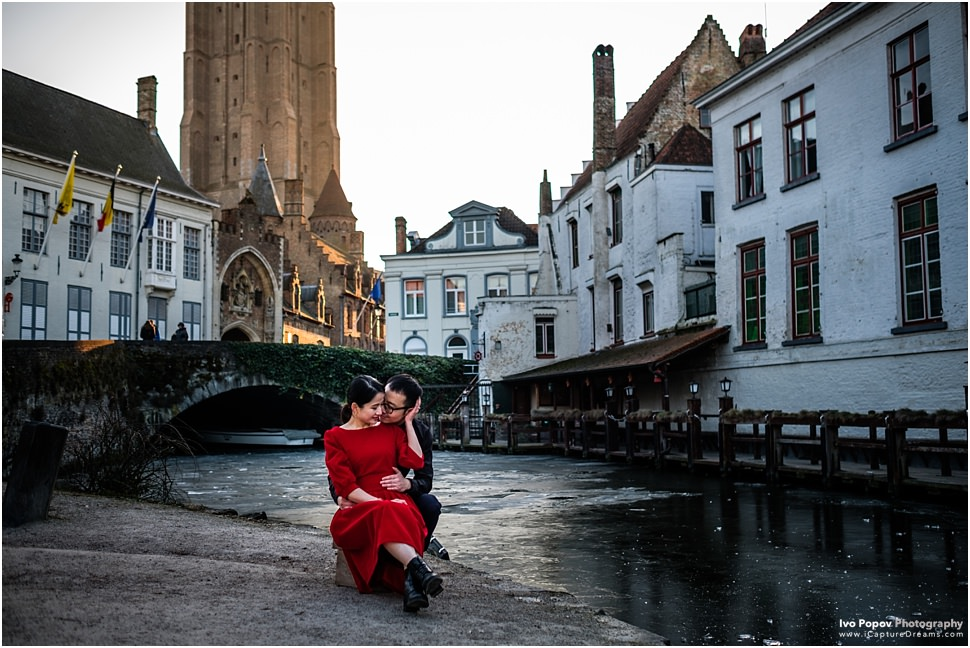 Sunny winter photo session in Bruges