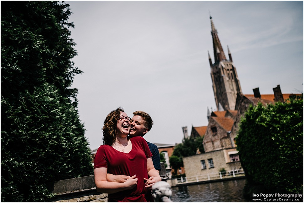 Surprise wedding proposal in Bruges
