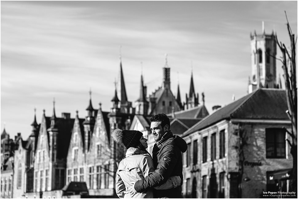 Winter proposal in Bruges