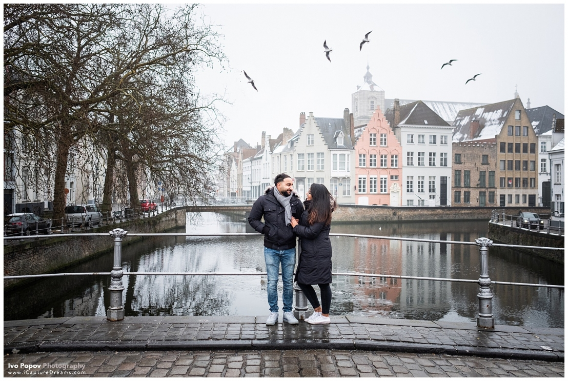A very cold marriage proposal in Bruges