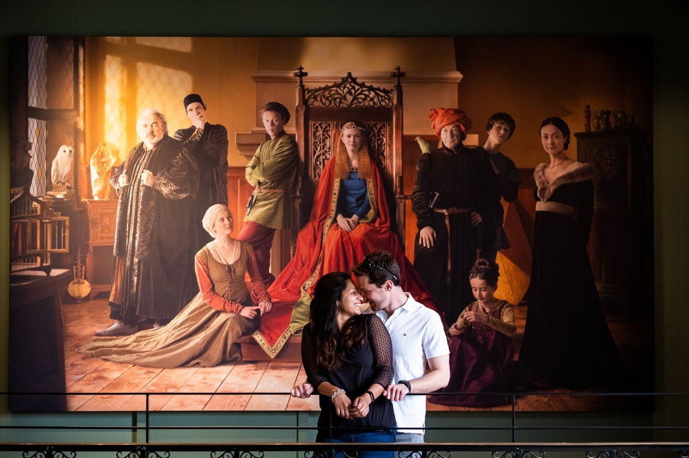 Marriage proposal in Historium, Bruges