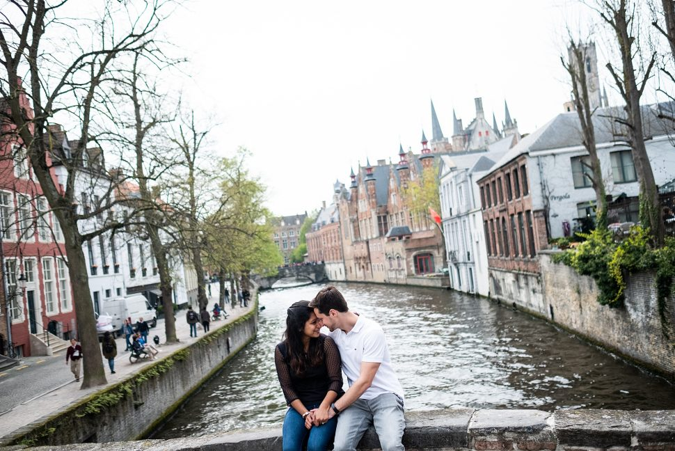 Marriage proposal in Bruges