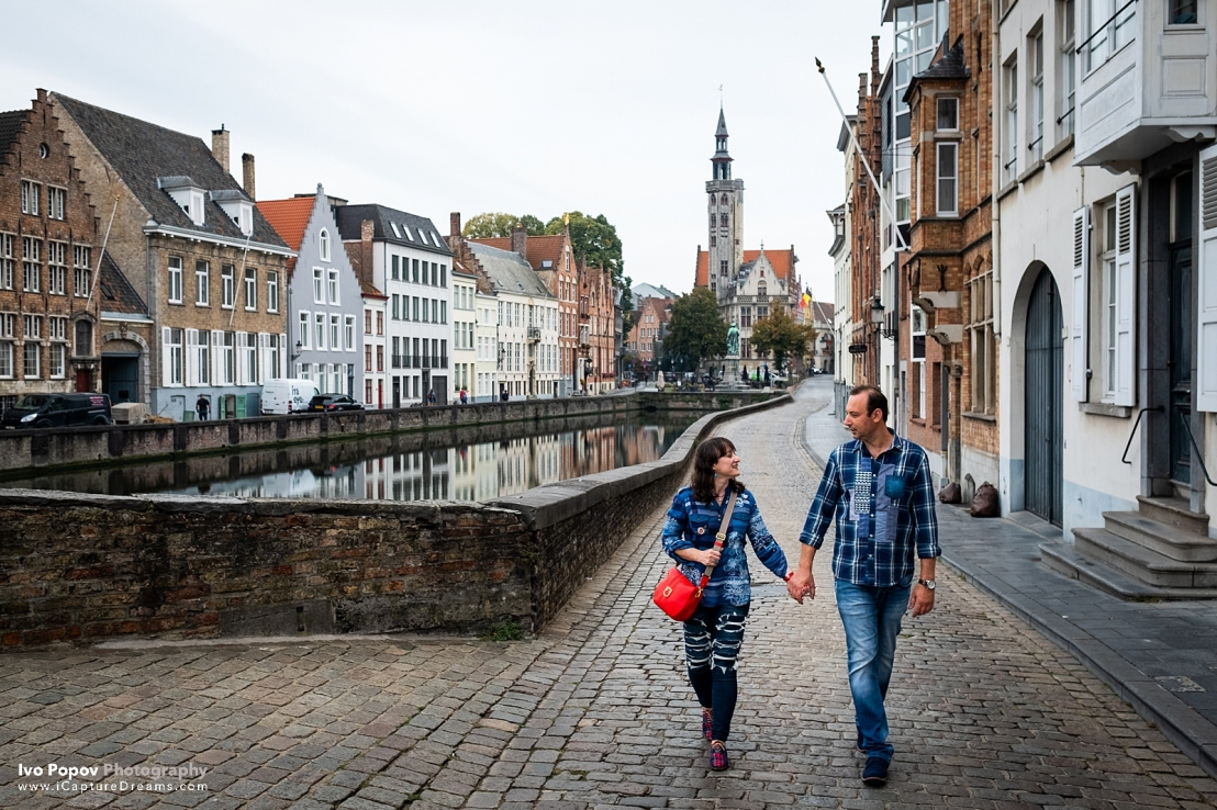 Couple session in Bruges in late autumn