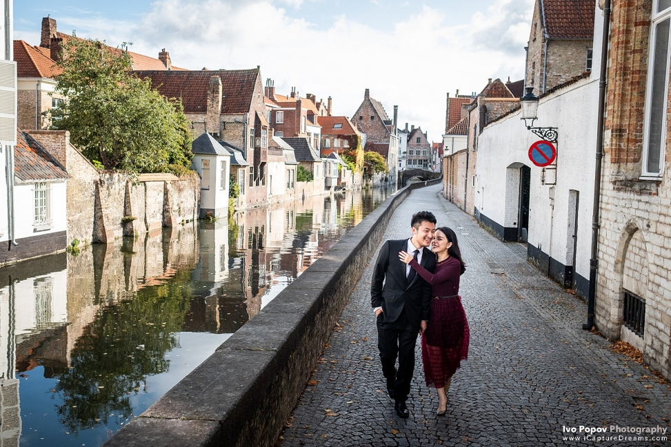 pre-wedding photo session in Bruges