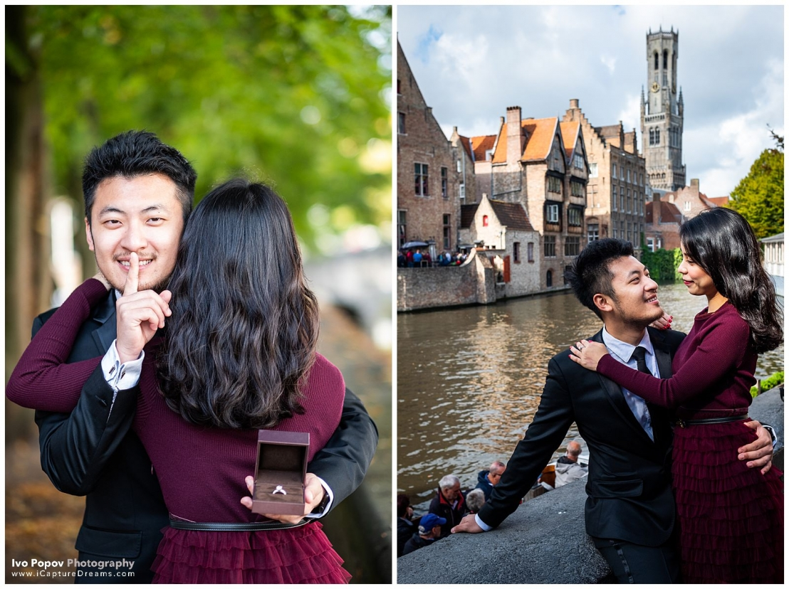 Engagement photo session in Bruges