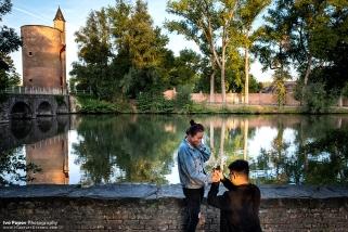 Lovers Lake Bruges mariage proposal