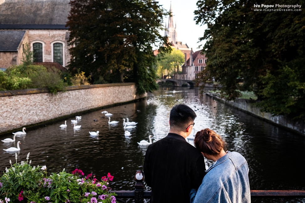 Mariage proposal in Bruges
