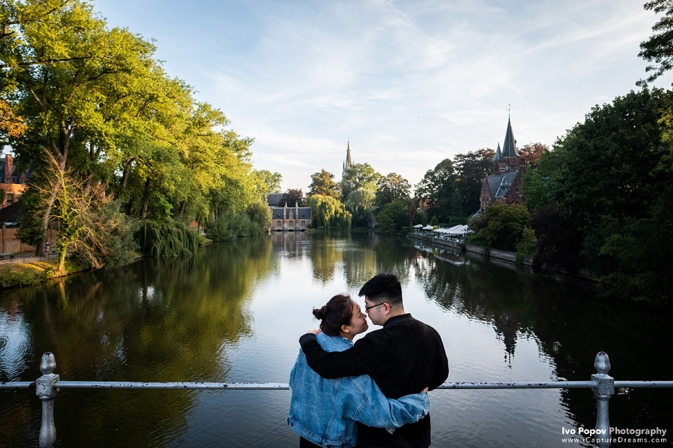 Lovers Lake Bruges mariage proposal