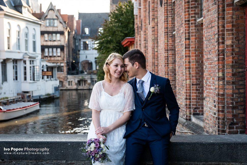 Wedding photo shoot in Bruges