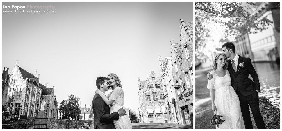 September wedding in Bruges