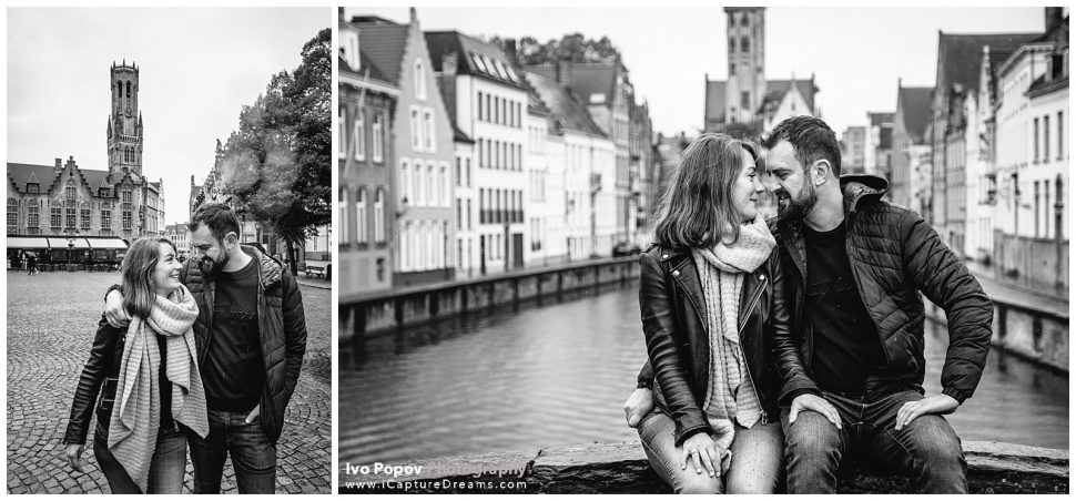 Anniversary photo session in Bruges city centre